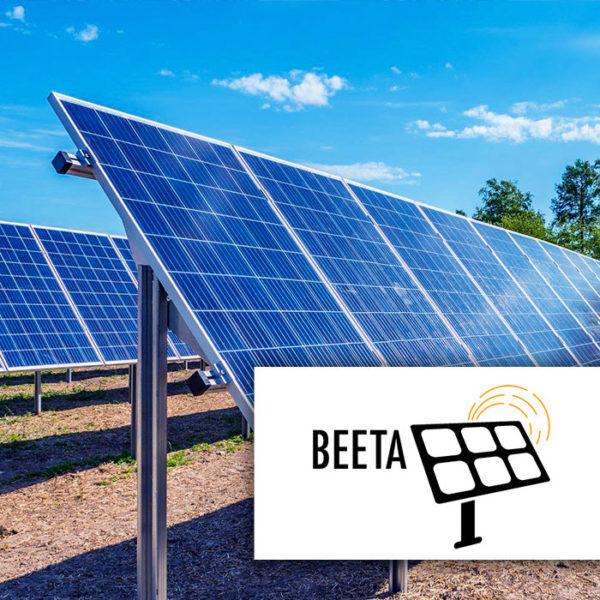 Beeta aurinkopaneelien asennustelineet maakentille