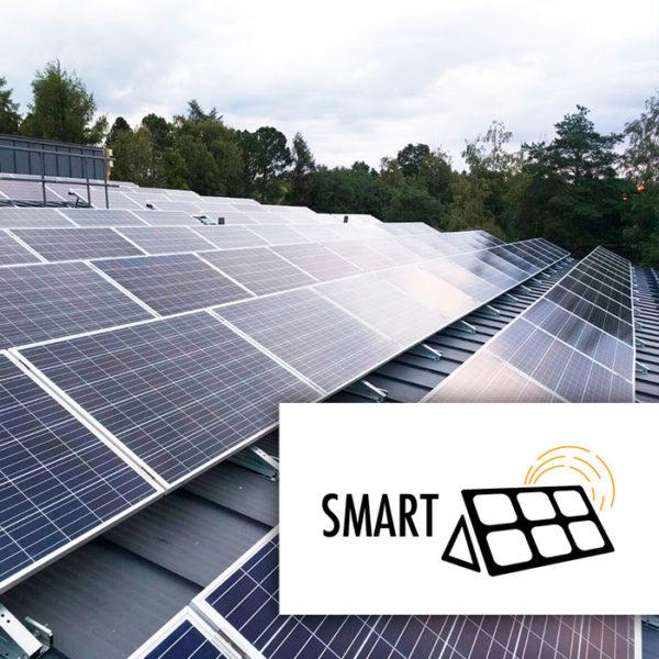 Smart aurinkopaneelien asennuskolmio tasakatolle ja konesaumakatolle